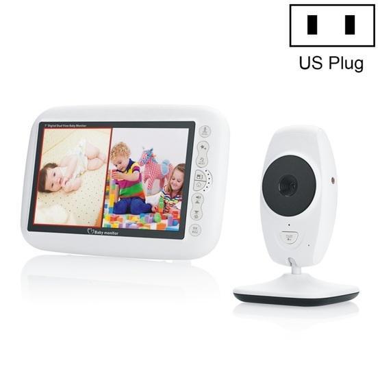 7Inch Larger Screen Display Wireless Digital Monitoring Camera Baby Career Monitor Wireless Baby Monitor SP870 - US Plug