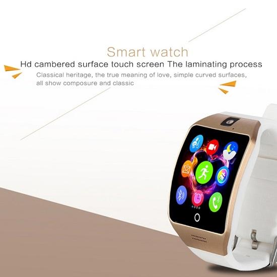 Q18S 1.54 inch Smart Watch Black Silver